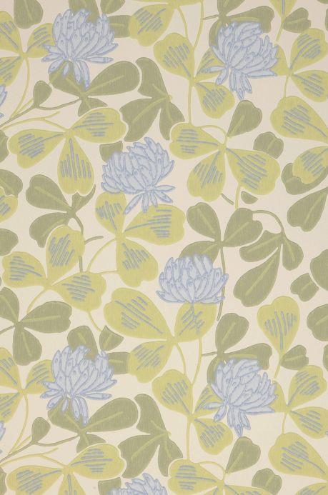 Papel pintado floral Papel pintado Ludivine azul claro Detalle A4