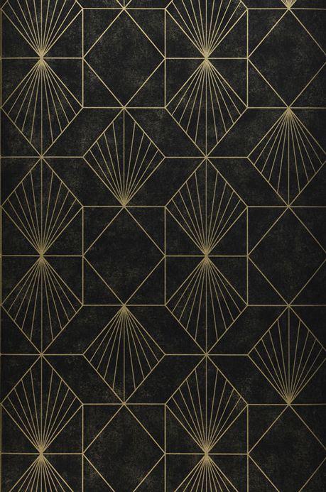 Papel de parede geométrico Papel de parede Maurus preto Largura do rolo