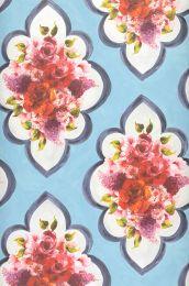 Wallpaper Malona pastel light blue