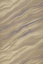 Papier peint Elyria Mat Aspect textile Imitation marbre Vert marron Gris jaune clair Bleu violet