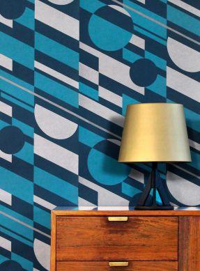 Papel de parede Calimero azul turquesa Ver quarto