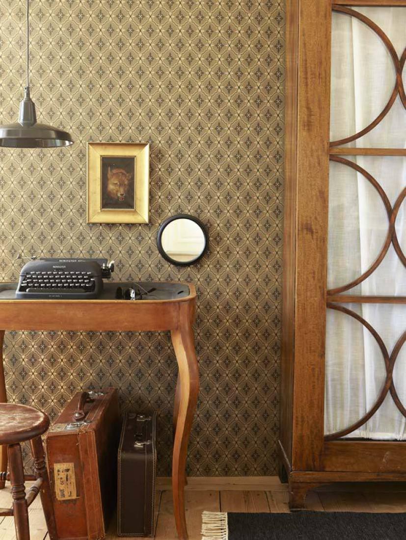 tapete hades braunbeige gold glanz schwarzgrau. Black Bedroom Furniture Sets. Home Design Ideas