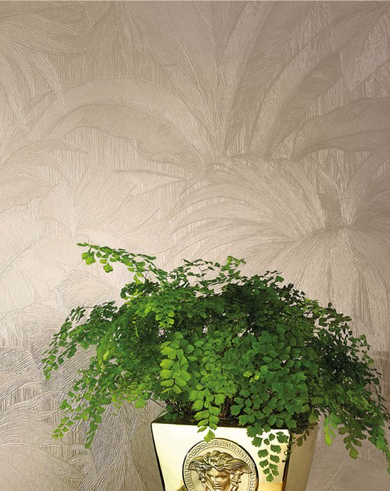 Wallpaper Yasmin Shimmering Leaves Cream