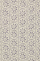 Wallpaper Feronia Matt Floral damask Stylised blossoms Cream Dark violet