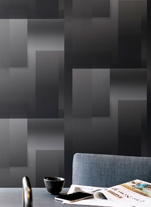 Geometric Wallpaper Wallpaper Space Odyssey grey tones Room View