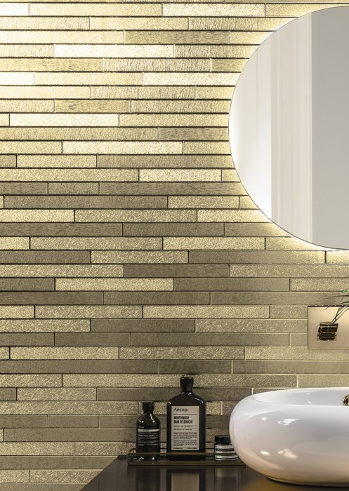 Wallpaper Titus Shimmering Imitation stone Gold