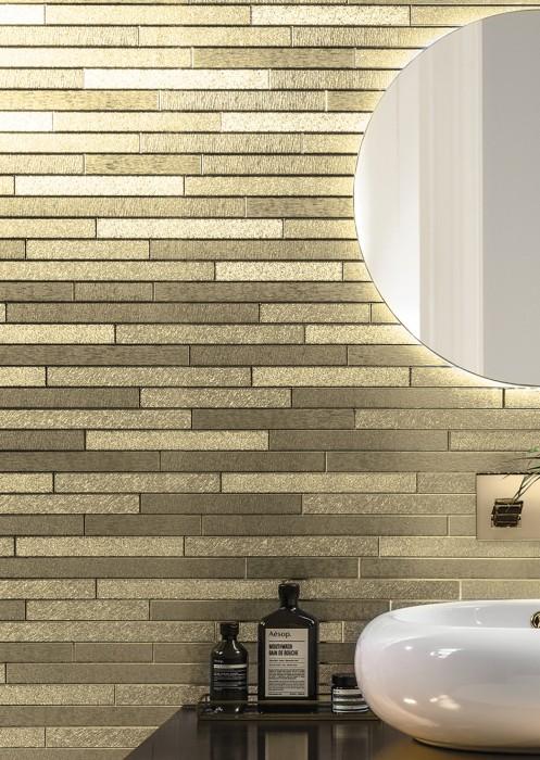 Wallpaper Titus Shimmering Imitation stone Gold