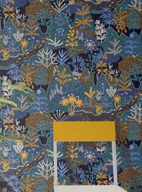 Papel de parede Tammi azul pérola Raumansicht