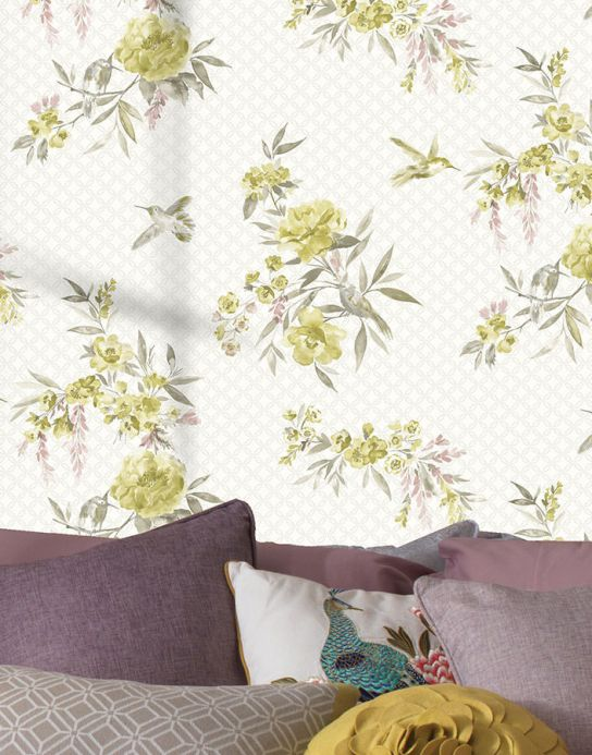 Archiv Wallpaper Sandrine curry yellow Room View