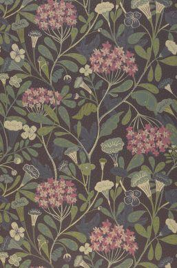 Papel de parede Flowery marrom acinzentado Bahnbreite