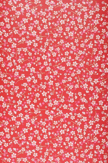 Floral Wallpaper Wallpaper Felicia red Roll Width