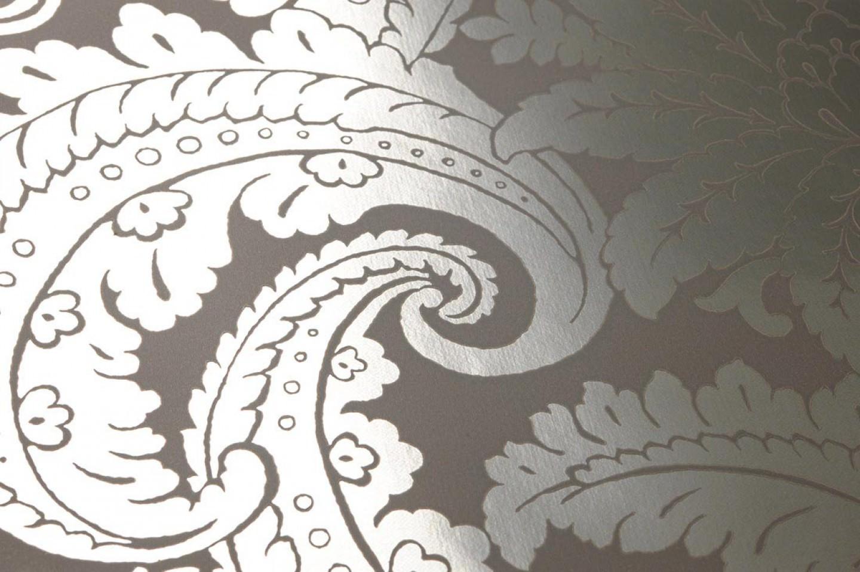 wallpaper nemesis grey silver lustre wallpaper from. Black Bedroom Furniture Sets. Home Design Ideas