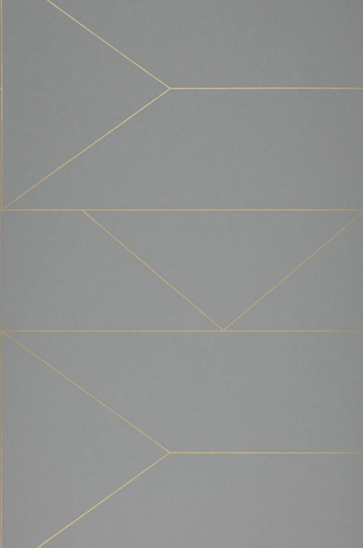 papier peint lines gris dor brillant papier peint des ann es 70. Black Bedroom Furniture Sets. Home Design Ideas