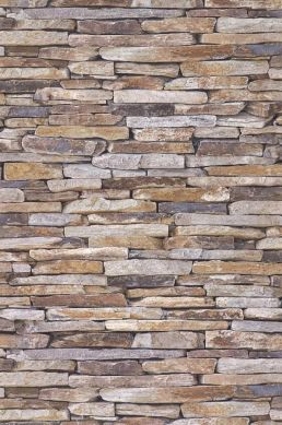 Tapete Stones Graubraun Bahnbreite