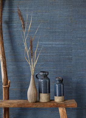 Papel de parede Grass on Roll 05 tons de azul Raumansicht