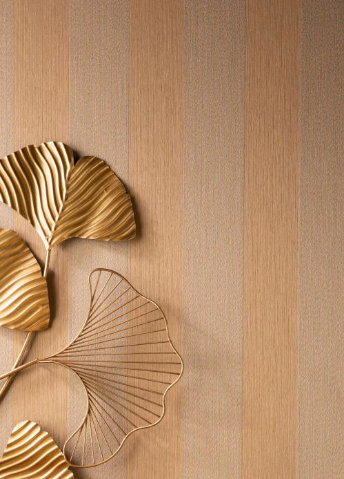 Papier peint textile Papier peint Bamana brun pâle Vue pièce
