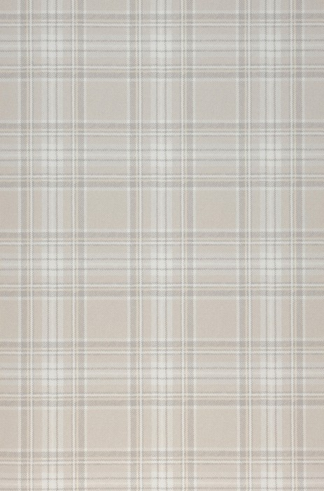 Wallpaper Madita Matt Looks like textile Plaid Beige grey Cream Light ivory Light grey beige