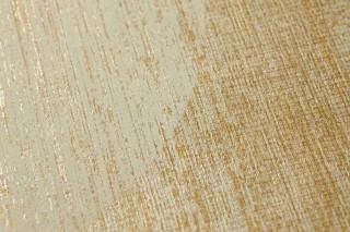 Papel pintado Sabulana Brillante Círculos Oro Plata blanco Gris claro