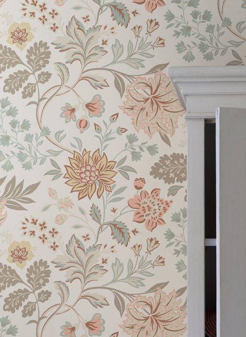 Floral Wallpaper Wallpaper Ebba pastel rose Room View