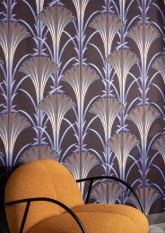 Papel pintado Morley azul perla