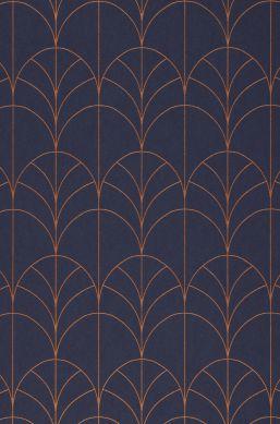 Papel pintado Ninon azul zafiro Detalle A4