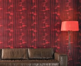 Wallpaper Fedon Shimmering Shabby chic Brown red Rosè Black red