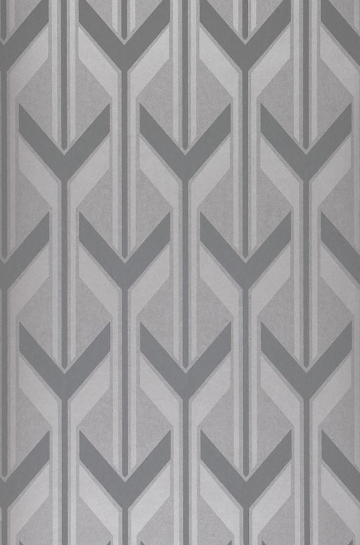 Papel pintado michabo aluminio gris basalto plata - Papeles de los 70 ...