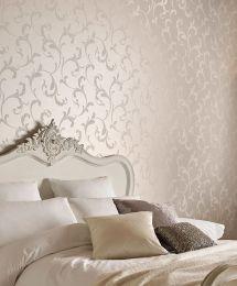 Wallpaper Iwana cream pearl lustre