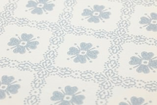 Wallpaper Arwen Matt Rhombus ornaments Cream Azure blue