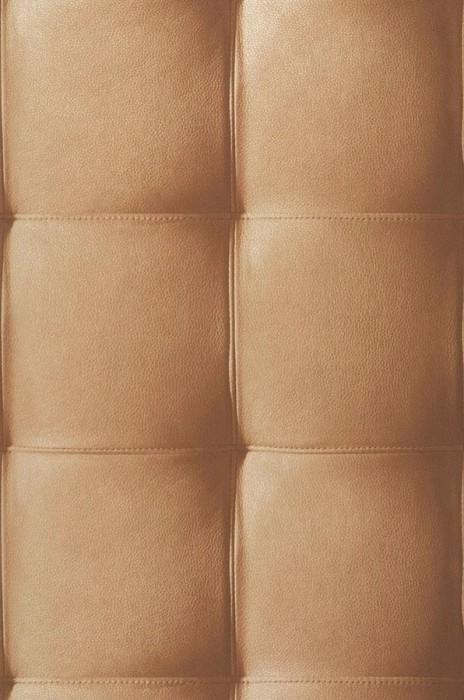 Wallpaper Kadmos Shimmering Imitation leather Brown Gold