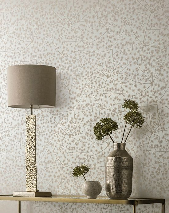 Country style Wallpaper Wallpaper Belmira grey beige Room View