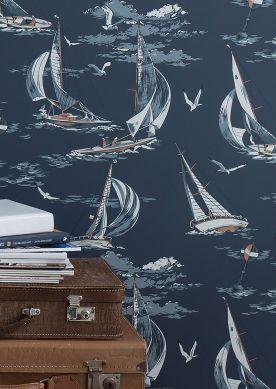 Papier peint Neptunus bleu foncé Vue pièce
