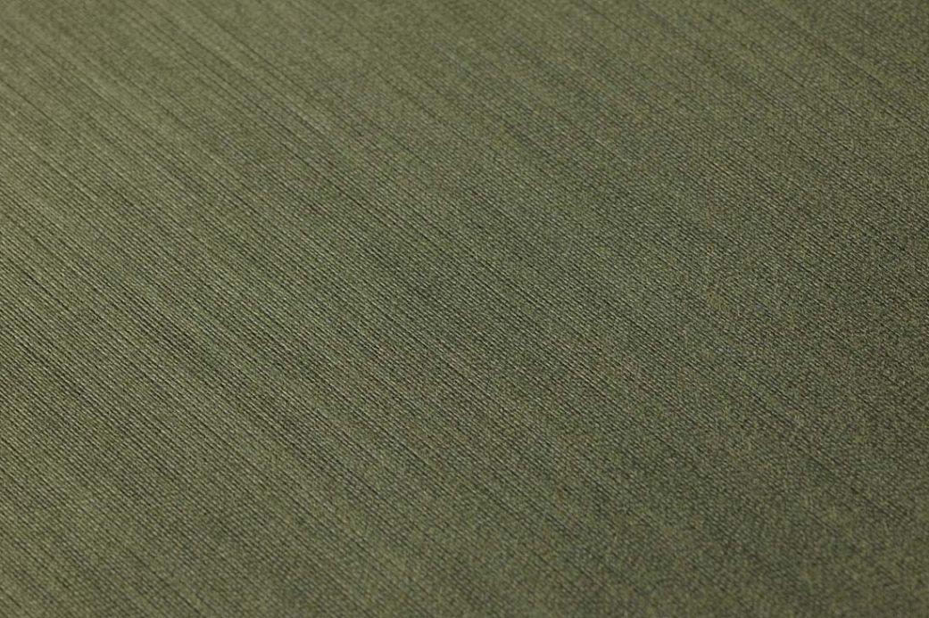 Papier peint textile Papier peint Warp Beauty 11 vert olive Vue détail