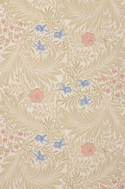 Papier peint Kari beige Largeur de lé