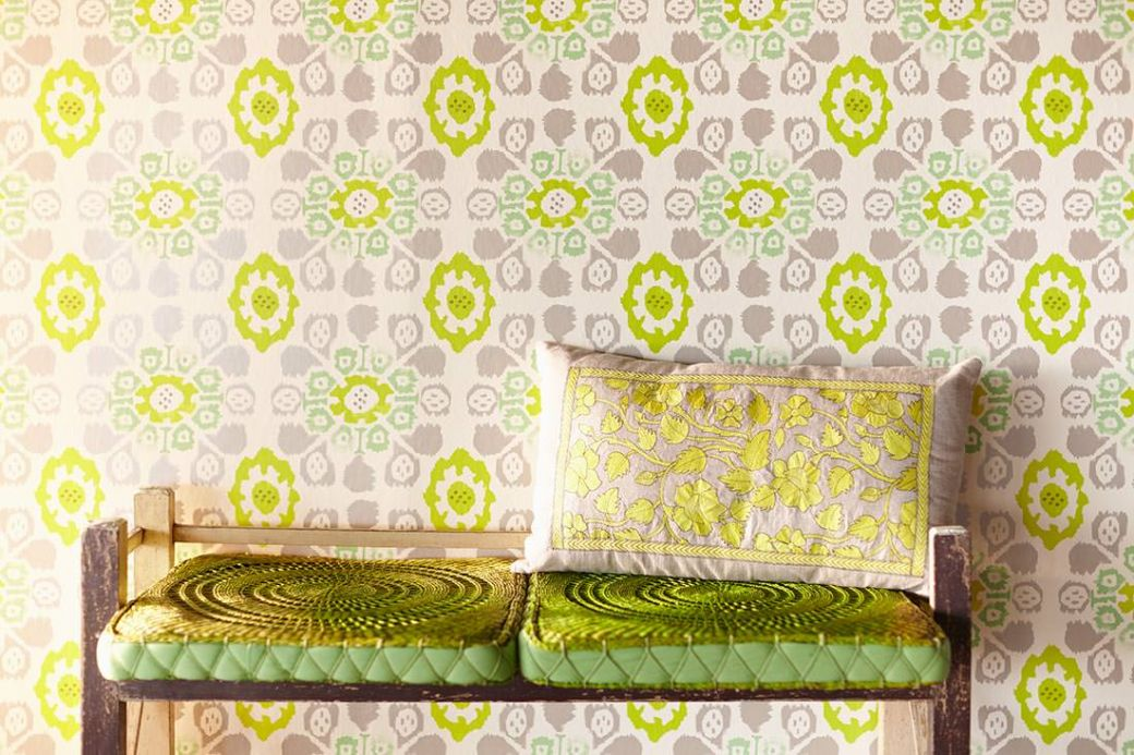 Archiv Wallpaper Rosane yellow green Room View