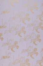 Tapete Trinity Muster schimmernd Untergrund matt Karussell-Pferde Helllavendel Perlgold