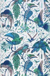 Wallpaper Audubon turquoise blue