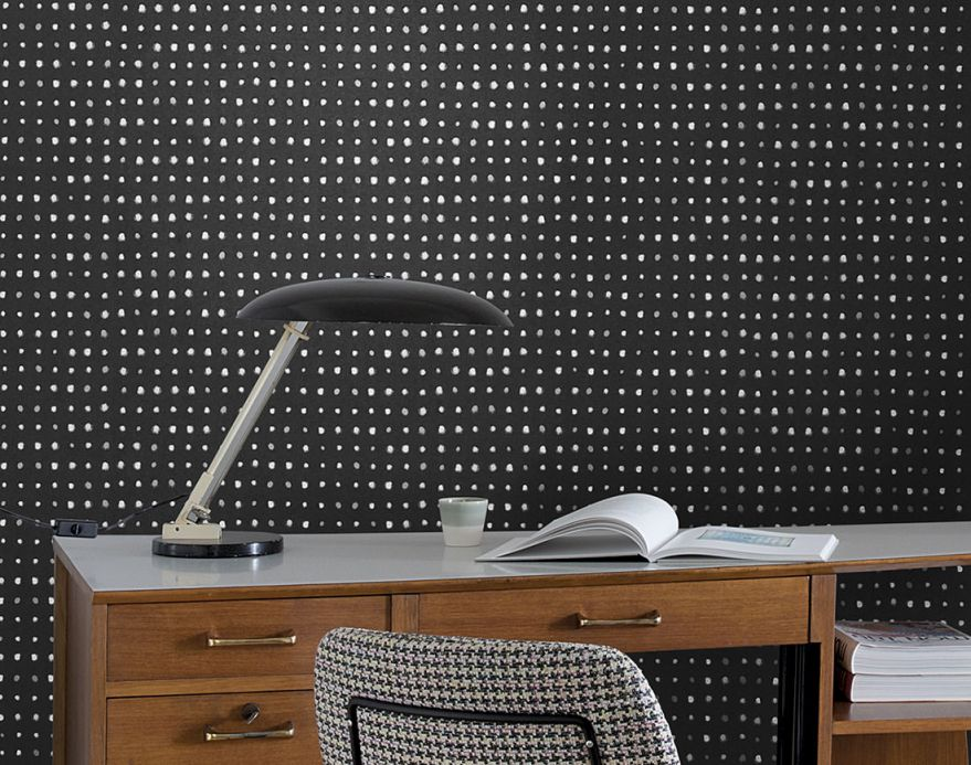 Geometric Wallpaper Wallpaper Wukata black Room View