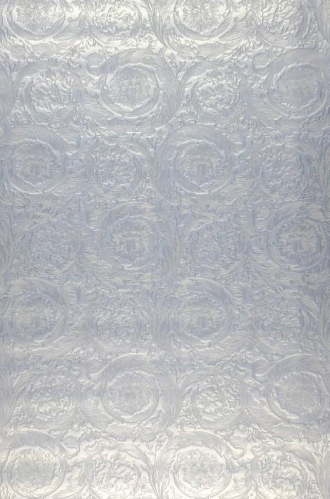 Papier peint Talora Chatoyant Damassé floral Argenté