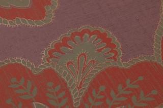 Wallpaper Mitra Matt Floral damask Pastel violet Beige grey Pearl beige Red
