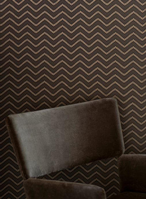 Geometric Wallpaper Wallpaper Chani grey brown Room View