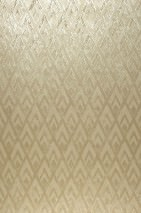Wallpaper Tristan Hand printed look Shimmering Rhombus ornaments Cream Gold Pearl beige