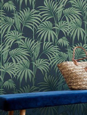 Papier peint Tatanu scintillement bleu foncé Raumansicht