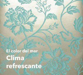 Papel pintado turquesa para dise adores con confianza en for Papel pintado azul y plata