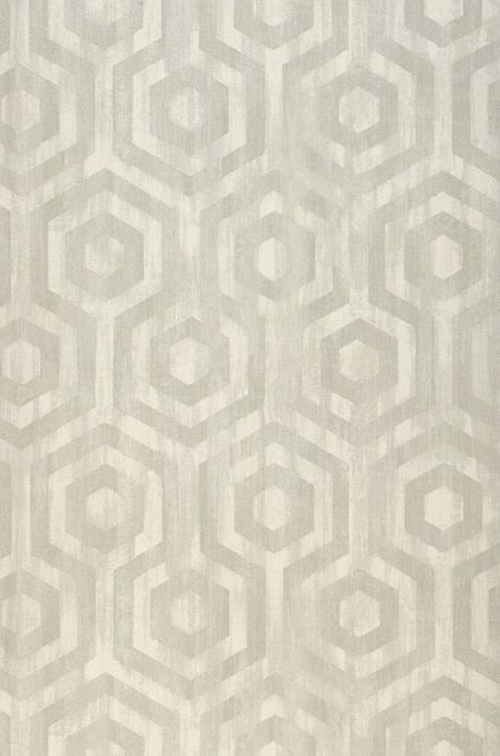 Papier peint géométrique Papier peint Marno gris clair Largeur de lé