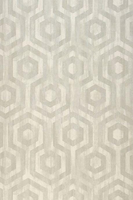Papel de parede geométrico Papel de parede Marno cinza claro Largura do rolo