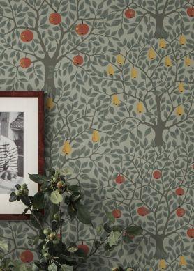 Papier peint Berita gris mousse Vue pièce