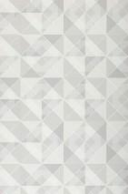 Tapete Ninazu Matt Geometrische Elemente Grauweiss Hellgraubeige