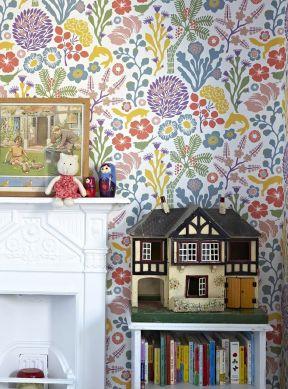 Papier peint Arietta multicolore Vue pièce