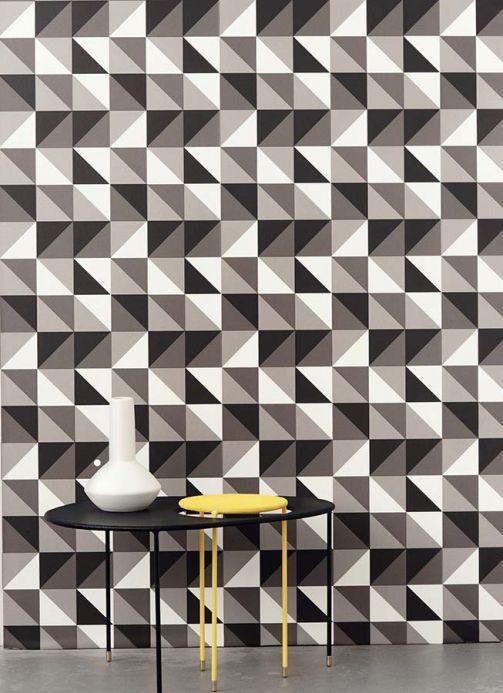Archiv Papel de parede Remix cinza bege Ver quarto